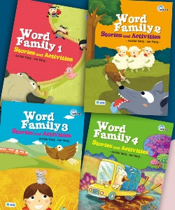 Word Family Stories and Activities 1-4(附4CD) + Word Family Chart